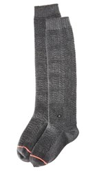 Stance Lunation Tall Boot Socks Black