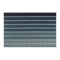 Chilewich Block Stripe Shag Rug Denim 46X71cm