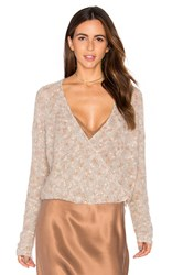 Mes Demoiselles Plumage Wrap Sweater Taupe