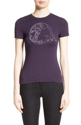 Versace Women's Collection Embellished Logo Tee