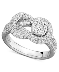 Macy's Diamond Pave Knot Ring In 14K White Gold 3 4 Ct. T.W.
