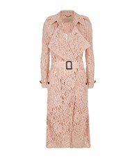Burberry Gracehill Lace Trench Coat Female Pink