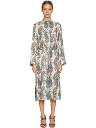 Etro Printed Silk Viscose Shirt Dress Multicolor