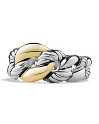Belmont Curb Link Ring With 18K Gold David Yurman Silver