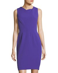 Tahari By Arthur S. Levine Sleeveless Fold Over Sheath Dress Violet
