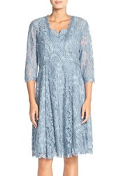 Women's Adrianna Papell Embroidered Lace Fit And Flare Dress With Bolero