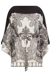 Etro Printed Silk Tunic Black