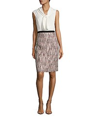 Oscar De La Renta Sleeveless Fitted Tunic Rose Gold