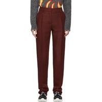 Valentino Burgundy Long Fitted Trousers