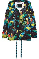 Marc Jacobs Hooded Printed Shell Jacket Black
