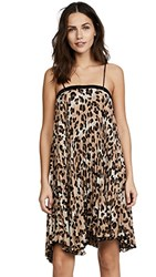 Loyd Ford Pleat Leopard Dress