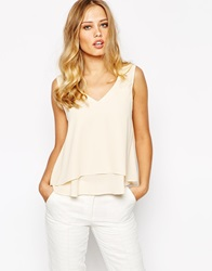 Y.A.S London Sleeveless Lace Top Tenderpeach