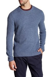 C 89 Men Long Sleeve Crew Neck Cashmere Sweater Blue