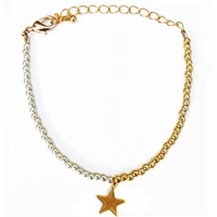 Lucci Charmers Star Charm Bracelet Pearl Pink
