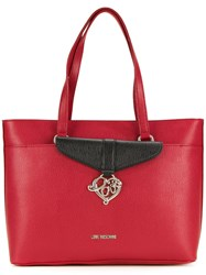 Love Moschino Double Straps Medium Tote Red