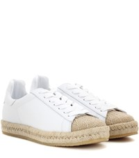 Alexander Wang Rian Leather Espadrille Sneakers White