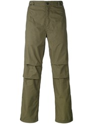 Mhi Maharishi Straight Leg Chinos Men Cotton S Green