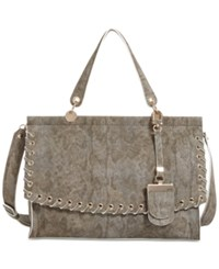 Guess Andie Top Handle Flap Satchel Python