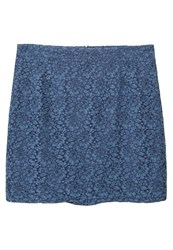 Mango Violeta By Lace Aline Skirt Indigo Blue
