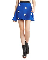 Bcbgeneration Embroidered Circle Skirt Electric Blue Combo