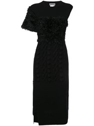 Yohji Yamamoto Vintage Deconstructed Knit Dress Black