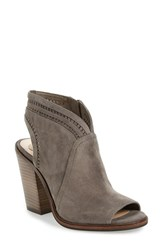 Vince Camuto Women's 'Koral' Perforated Open Toe Bootie Greystone Suede