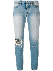 Unravel Project Light Wash Jeans Women Cotton Polyester 27 Blue