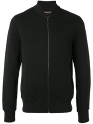Michael Kors Bomber Cardigan Men Cotton Spandex Elastane M Black