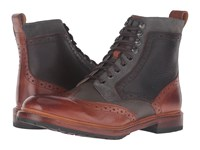 Stacy Adams Madison Ii Wingtip Lace Boot Cognac Multi Men's Lace Up Boots Tan