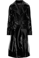 Tom Ford Patent Leather Trench Coat Black Usd
