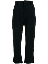Sofie D'hoore Cropped Corduroy Trousers Blue