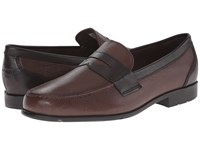 Rockport Classic Loafer Lite Penny New Brown Dark Bitter Chocolate Men's Slip On Dress Shoes