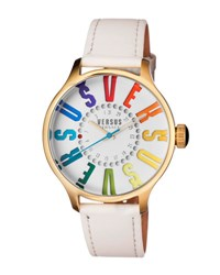 Versus By Versace City Round 44Mm Women's Watch Steel White