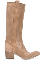 Fauzian Jeunesse Worn Look Boots Leather 37.5 Brown