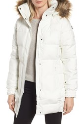 Helly Hansen Blume Waterproof Parka With Faux Fur Trim Off White