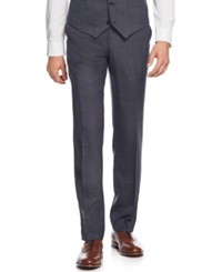 Bar Iii Navy And Charcoal Texture Slim Fit Pants Only At Macy's Charcoal Flannel