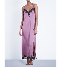 Myla Heritage Silk Stretch Silk Satin Maxi Gown Mauve Slate