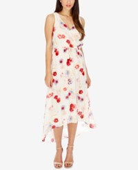 Lucky Brand High Low Floral Print Dress Natural Multi