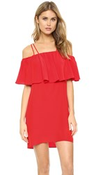Amanda Uprichard Kiara Dress Candy Apple