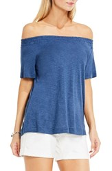 Vince Camuto Women's Two By Off The Shoulder Tee Indigo Heather