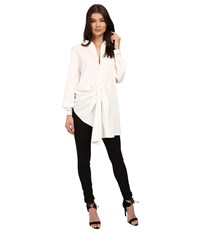 Style Stalker Night Rider Shirt Blanc Women's Long Sleeve Button Up White