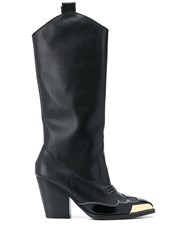 Versace Jeans Couture Toe Cap Pull On Boots 60
