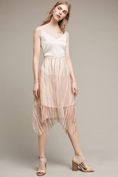 Anthropologie Farron Lace Overlay Skirt Pink