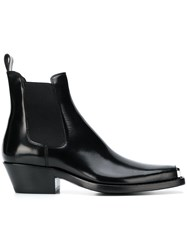 Calvin Klein 205W39nyc Square Toe Ankle Boots Black