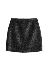 Victoria Victoria Beckham Metallic Mini Skirt Black