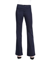 J Brand Tailored High Rise Flared Denim Trousers Inkwell