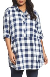 Caslonr Plus Size Women's Caslon Plaid Cotton Tunic