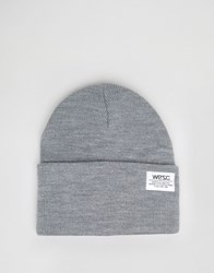 Wesc Puncho Knitted Beanie Grey
