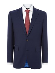 Chester Barrie Men's Hopsack Suit French Navy