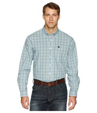 Cinch Long Sleeve Plaid White Clothing